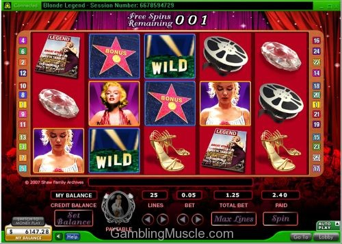 Play Marilyn Monroe online slots at Casino.com